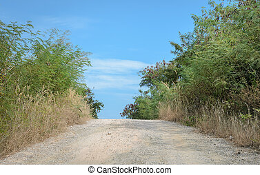 Gravel countryside road