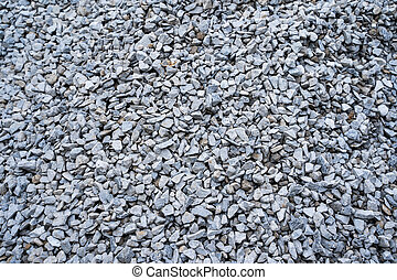 gravel for building in construction site