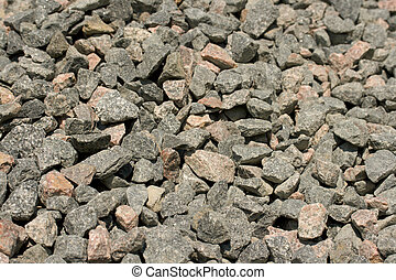 Gravel heap background close up