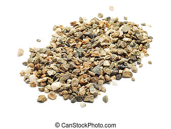 gravel isolated on white background