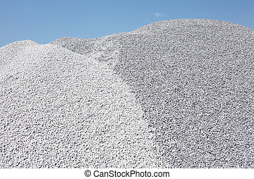 Gravel mound - Gray gravel mound