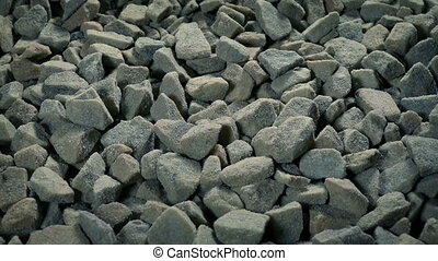 Gravel Pile Moving Shot - Moving over rough gravel pile