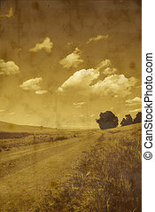 Gravel Road and Clouds