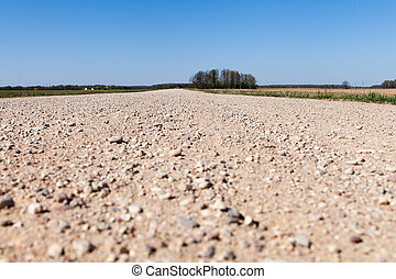 Gravel road in contryside.