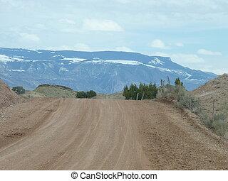 Gravel Road in the Desert