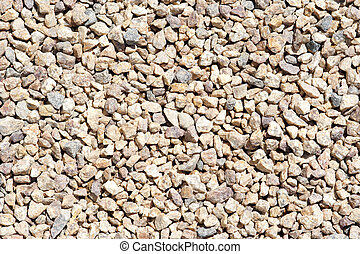 gravel - road metal - Background of broken stone - texture...