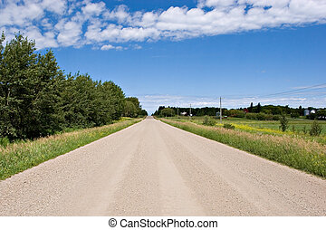 Gravel Road - Rural gravel road