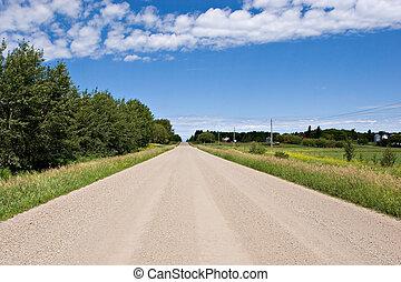 Gravel Road - Rural gravel road