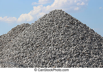 Gravel Rock Pile Blue Sky