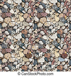 Gravel seamless texture - Coloured gravel. High-resolution...