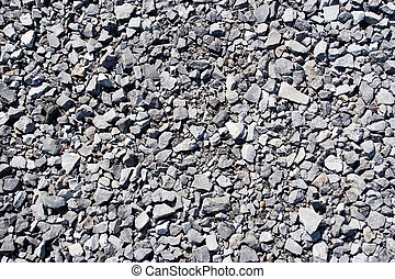 Gravel texture - Gravel rocks texture taken on a road in...