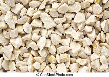 Gravel texture - White gravel texture background