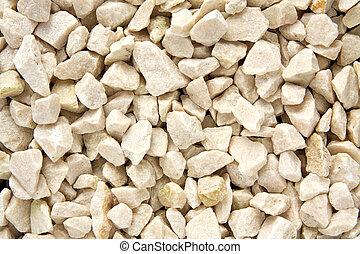 Gravel texture - White gravel texture background