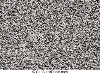 Gravel wall - many shades of grey. Texture. - Gravel wall -...
