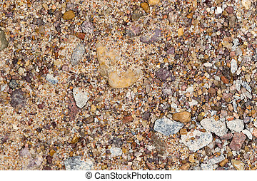 gravel with sand as background
