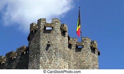 Gravensteen Castle, Ghent, Belgium.