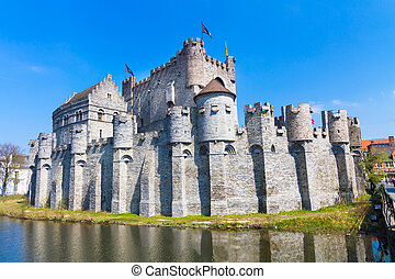 Gravensteen - Castle of the Counts; Ghent, Belgium. The...