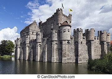Gravensteen - Ghent - Belgium - The Gravensteen - a medieval...