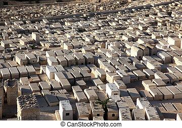 Graves on the Mount of Olives in Jerusalem, Israel