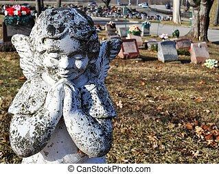 Gravesite - Angel - background
