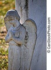 Gravesite - Angel - closeup