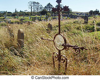 Gravesite - Sad yet bright graveyard.