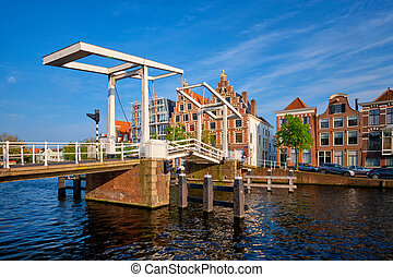 Gravestenenbrug bridge in Haarlem, Netherlands - ...