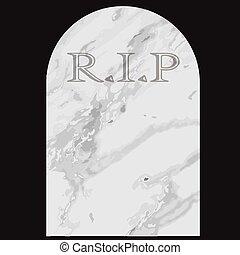 Gravestone - A common gravestone with the inscription RIP...