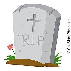 gravestone, chão