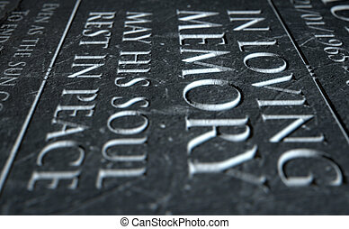 Gravestone In Loving Memory