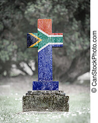 Gravestone in the cemetery - South Africa