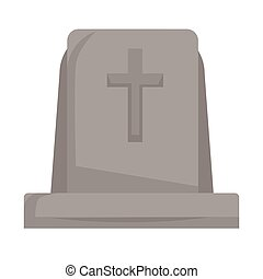 Gravestone or tombstone with cross isolated grave death and...