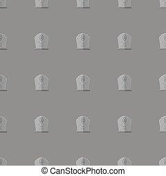 Gravestone Seamless Pattern. Stone Monuments