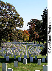 Arlington National Cemetery - Gravestones at Arlington...