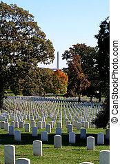 Arlington National Cemetery - Gravestones at Arlington...