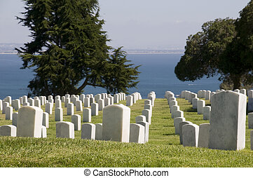 Graveyard at Point Loma in San Diego.
