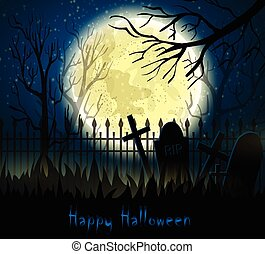 graveyard cemetery tomb with fool moon graveyard cemetery tomb with