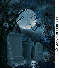 graveyard - 3d render