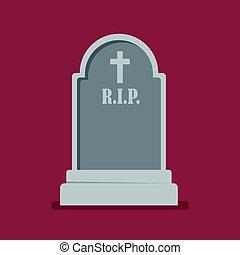 Graveyard flat style icon