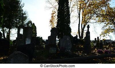 graveyard monument bright