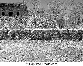 Graveyard Uxmal Mayan Ruins - Graveyard Mayan ruins of Uxmal...