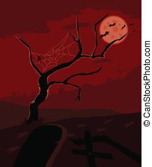 Graveyard vector ( red version )