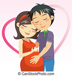 graviditet, kärlek