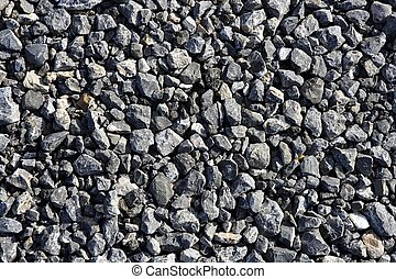 gravier, gris, pierre, textures, pour, asphalte, mélange,...