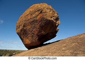 gravità, contro, roccia