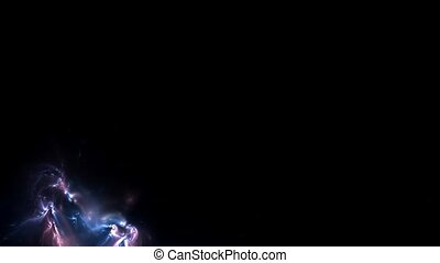 Nebula moving around gravitation field black hole