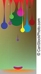 gravity bubbles, vecotr art illustration