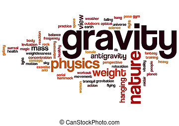 Gravity word cloud concept