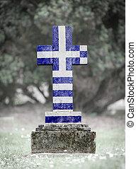 gravsten, -, kyrkogård, grekland