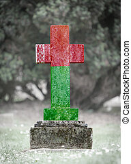 gravsten, -, vitryssland, kyrkogård